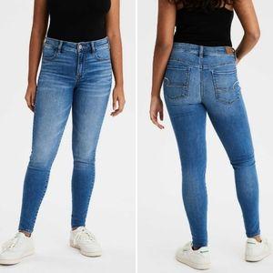 American Eagle Hi-Rise Jegging skinny jeans 8 long